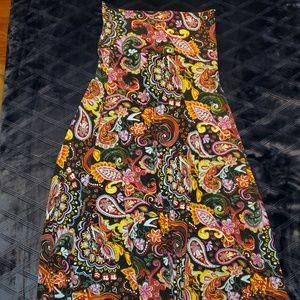 LuLaRoe Paisley Maxi skirt
